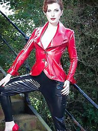 Boots, Pvc, Leather, Latex, Mature pvc, Mature latex