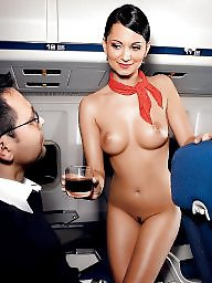 Public, Stewardess, Hostess, Amateur public