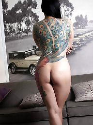 Tattoo, Asian ass, Asian nude, Asian babe