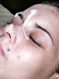 Facial, Sperm, Teen facial, Teen blowjobs