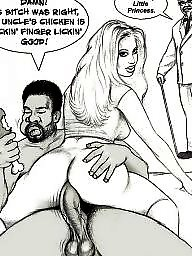 Interracial cartoon, Interracial cartoons, Art, Cartoon interracial, Extreme, Black cock