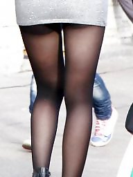 Street, Nylons, Upskirts, Amateur nylon, Amateur stockings, Nylon upskirt