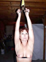 Tied, Lady, Tied up, Mature bdsm, Ups