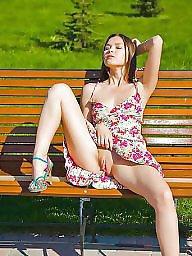 Leg, Show, Upskirt flashing, Legs stockings