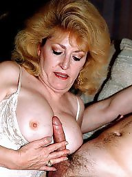 Mommy, Mature blowjob, Old mature, Young mature