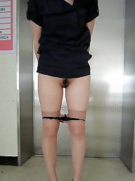 Korean, Asian amateur, Woman, Womanly, Public flashing, Public asian