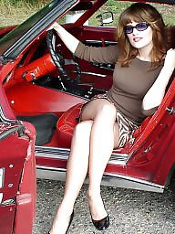 Car, Nylon, Nylons, Vintage nylon, Cars, Ladies