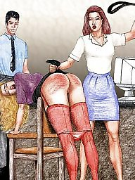 Spanking, Spank, Bdsm cartoon, Art, Spanked, X art