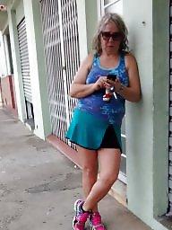 Street, Mature lady