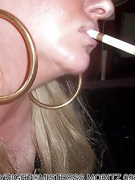Smoking, Blonde milf, Smoke, Milf blowjob