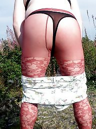 Shorts, Tight, Tights, Red, Lace, Short