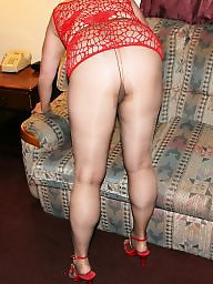 Pantyhose, Mature pantyhose, Mature stocking, Mature stockings, Red, Pantyhose mature
