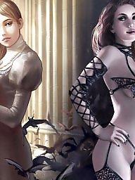 Manga, Fantasy, Erotic, Big nipple