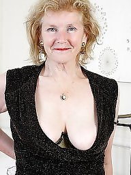 Granny, Piercing, Pierced, Granny stockings, Mature pussy, Mature granny