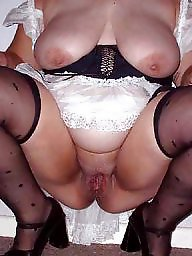 Spreading, Spread, Shaved, Bbw stockings, Bbw spreading, Bbw stocking