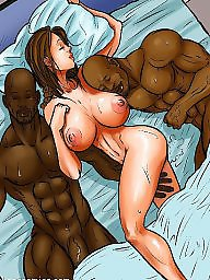 Interracial cartoon, Interracial cartoons, Night