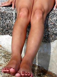 Nylon feet, Nylon, Nylon mature, Mature nylon, Mature feet, Voyeur mature