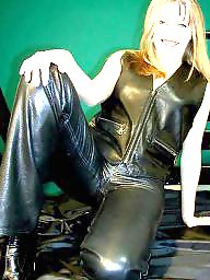 Latex, Pvc, Boots, Leather, Mature leather, Mature porn