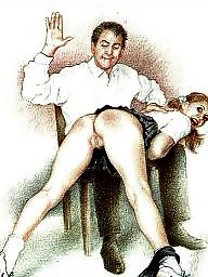 Cartoon, Cartoons, Drawings, Drawing, Spanking, Draw