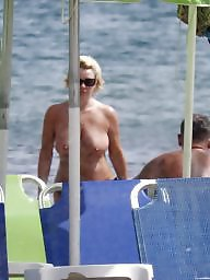 Big boobs, Caught, Topless, Beach, Beach milf