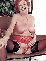 Granny, Pussy, Nylon, Stockings, Stocking, Grannies