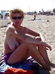 Mature beach, Topless, Beach mature