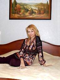 Russian, Russian milf, Blonde milf