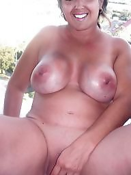 Old, Flash, Flashing, Wife, Busty, Mature big boobs
