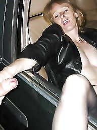 Car, Aged, Mature fuck, Old mature, Young fuck, Mature fucking