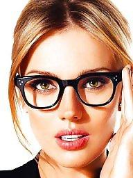 Glasses, Glass, Brunette amateur