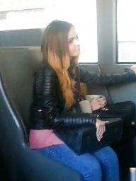 Bus, Spy, Hidden cam, Cam, Teen voyeur, Spy cam