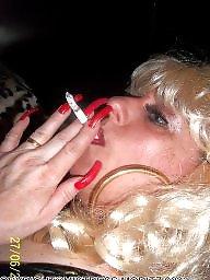 Smoking, Femdom, Smoke, Blonde milf, Nails, Femdom milf