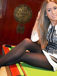 High heels, Nylon, Dress, Teen dress, Legs stockings, Dressing