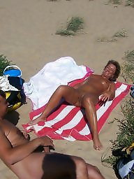 Mature beach, Beach, Public, Masturbation, Beach mature