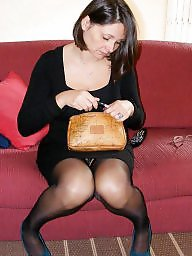 Milf, Stockings, Mature wife, Wife mature