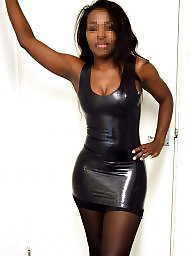 Latex, Dressed, Sexy dress, Sexy, Dress, Ebony milfs