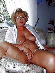 Granny, Big, Mature boobs, Grabbing