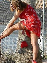 Vintage, Dress, Red