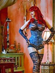 Redhead, Redheads, Lace, Blue