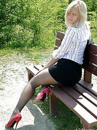 Nylon, Upskirt stockings, Street, Nylon teen