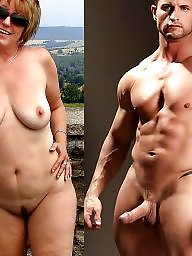 Naked, Old milf, Nature