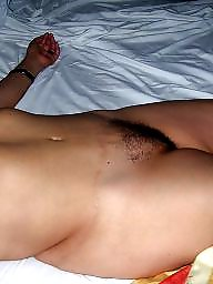 Bed, Mature hairy, Mature bed