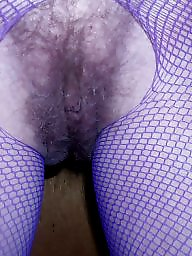 Hairy, Fishnet, Hairy mature, Blonde mature