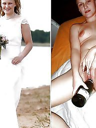 Dressed undressed, Bride, Dress, Undressing, Undressed, Stockings milf