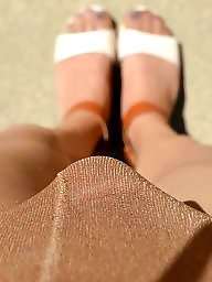 Pantyhose, Outdoor, Upskirts, Nylons