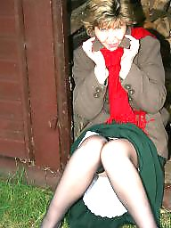 Outdoor, Mature stockings, Outdoors, Mature stocking, Uk mature, Mature outdoor