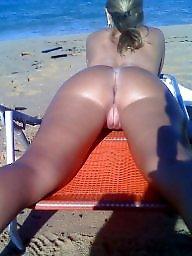 Big pussy, Voyeur, Nude, Big butt, Butts, Nude beach