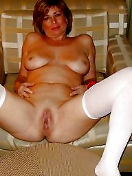 Wide open, Wide, Mature legs, Spread, Open, Mature spreading