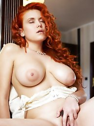 Lingerie, Redhead, Bed, White, Redheads