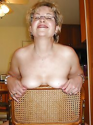 Naked, Mature blonde